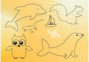 Animals Outline Graphics