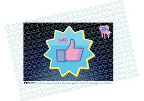 Le bouton Vector facebook like