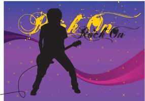 Imagen libre del vector del guitarrista