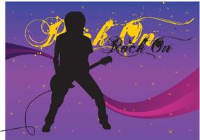 Free Guitarist Vector Image