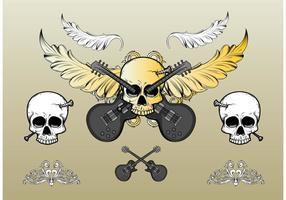 Rock-skull-vector