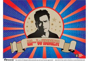 Charlie sheen bi-winnende vector