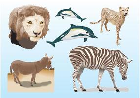 Realistische Tiere Vektoren