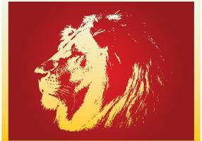 Vector de la cara del león