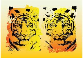 Gráficos vetoriais tigres