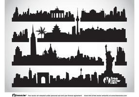 Vecteur des paysages urbains
