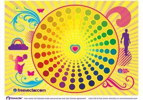 Vecteur de vie colorée