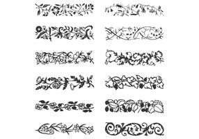 Leafy Vine Borders Vector Set