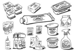 Scherpe Food Products Vectors