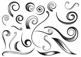 Swirly flourish vectors