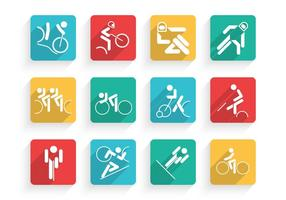 Cycling-icons-vector-set