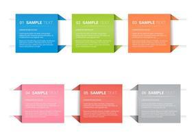 Origami banner conjunto de vectores