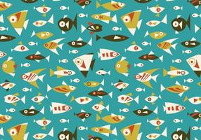 Retro Fish Seamless Vector Pattern