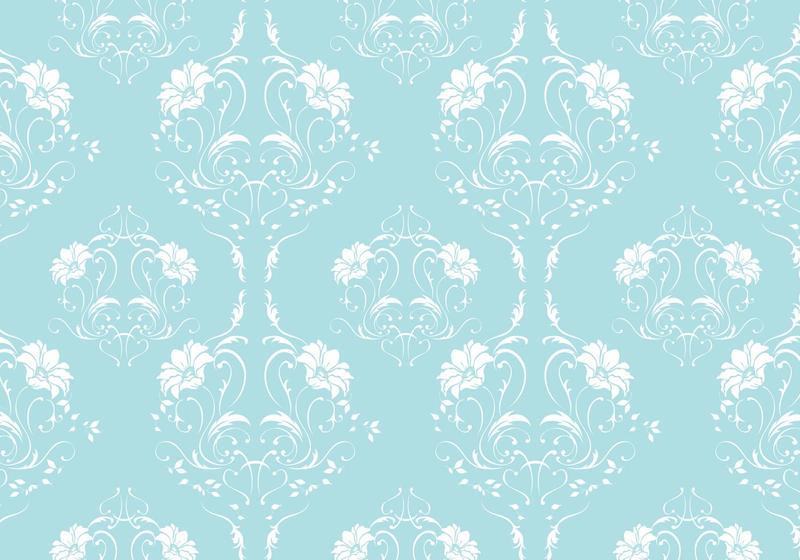 Robin Egg Blue Damask Vector Pattern Free Art Stock Graphics Images