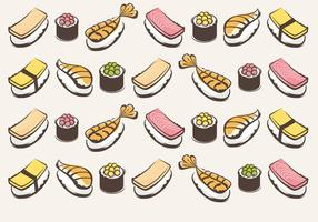 Sushi-vector-pattern