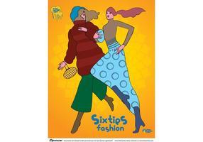 Vetor de moda dos anos sessenta