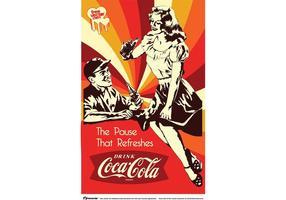 Vintage Coca-Cola Poster Vector