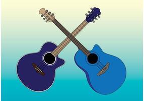 Vectores de las guitarras acústicas
