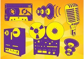 Freie Musikaufzeichnungsvektoren