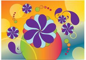 Vecteurs de fleurs des années soixante
