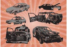 Car Wrecks Vectors