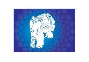 Asiatische Elefanten Vektoren