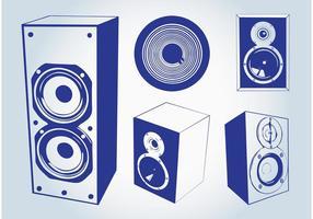 Vecteurs de haut-parleurs de musique
