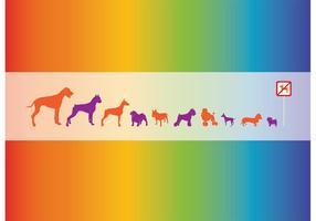 Gráficos de cachorros vetoriais