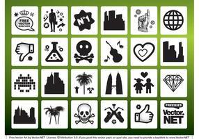 Símbolos de signos vectoriales