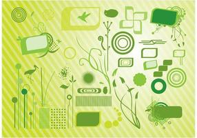 Grüne Grafiken