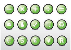 Vários ícones vetoriais