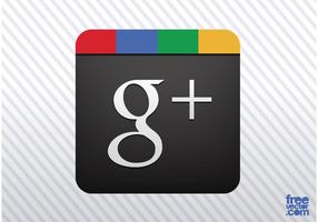 Google plus vektorikonen