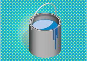 Vector de cubo de pintura