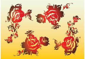 Rote Rosen Vektoren