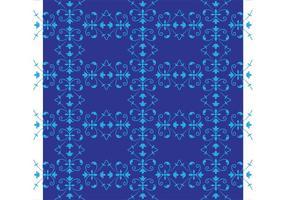 Azul patrón de flores