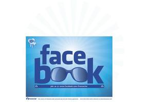 Cool facebook logo vecteur