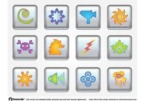 Botones Iconos De Vector