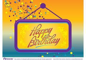 Feliz cumpleaños tarjeta vector