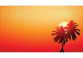 Puesta de sol de palmeras