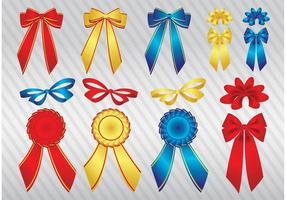 Glossy Ribbons Vectors