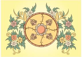 Floral Ornaments Shield