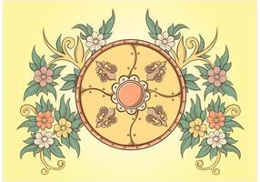 Floral Ornaments Shield