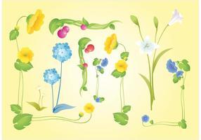 Schöne Blumen Vektoren