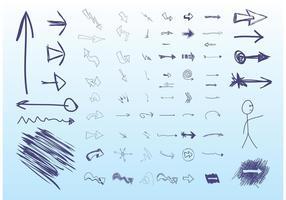 Flèches dessinées à la main