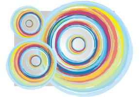 Círculos coloridos del vintage