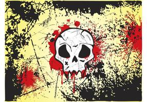 Grunge-skull-vector
