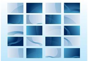 Cartes de visite bleues