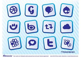 Download sociale media iconen
