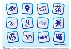 Logotipo social da Web