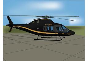 Vecteur hélicoptère noir